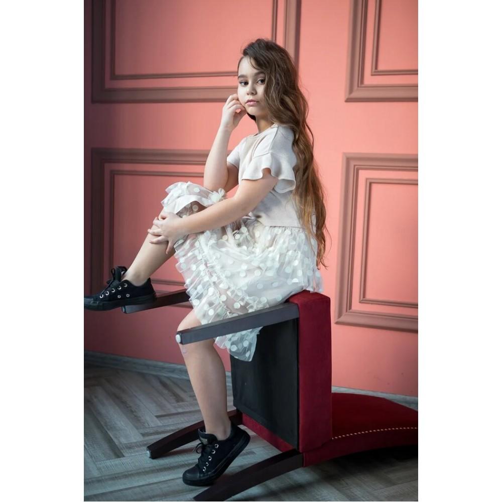Skirt Miya MS2353, beige