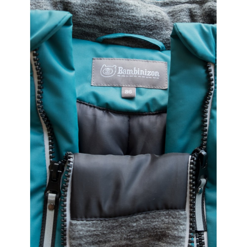 """Winter overalls on a heater """"Turquoise"""""""