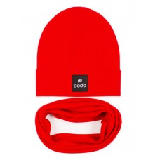 Set of cap and snud BODO 13-30U red