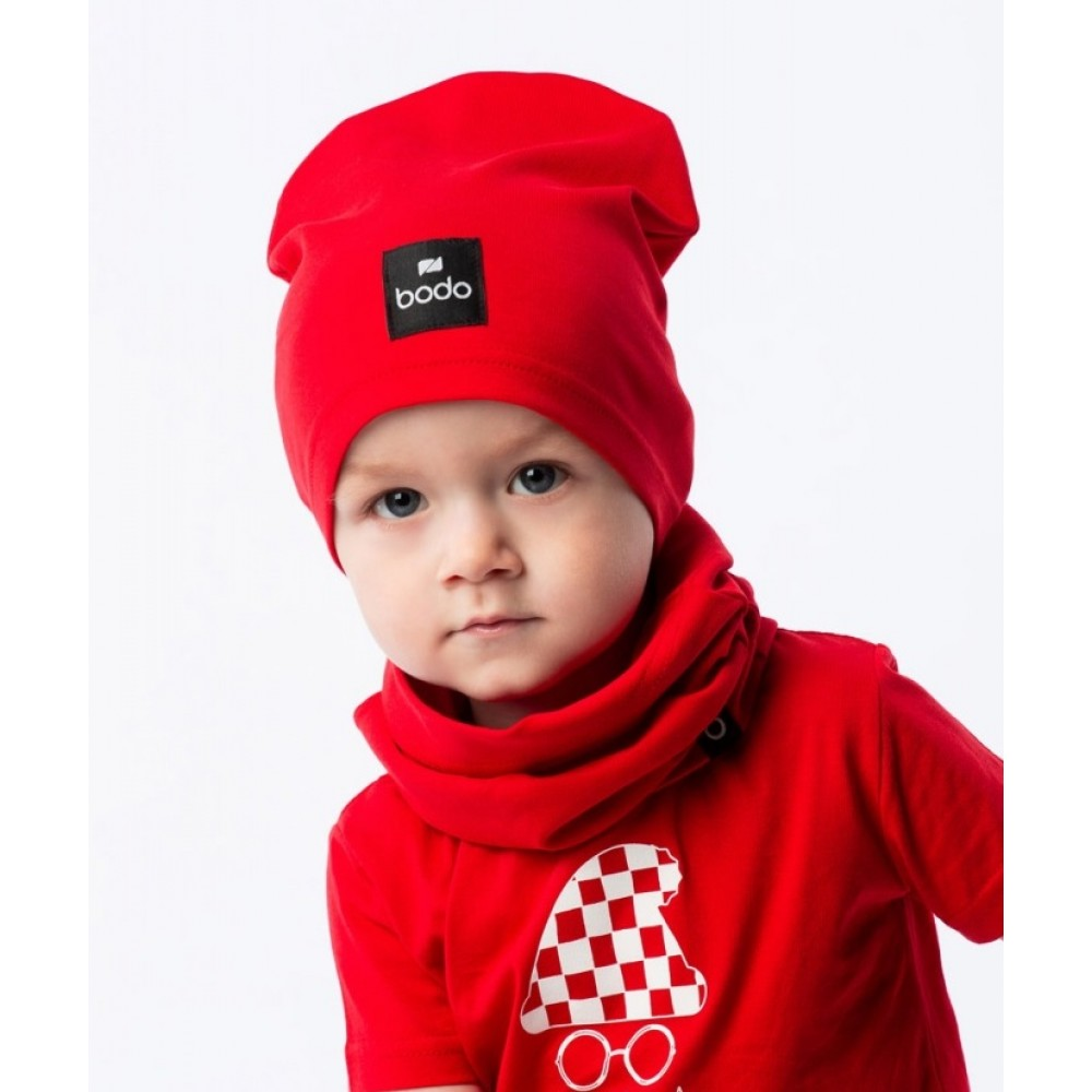 Set of cap and snud BODO red