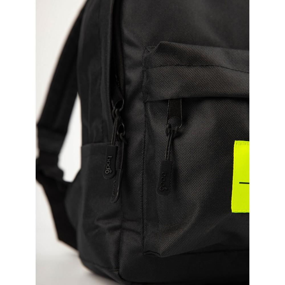 Рюкзак детский 34-28 черный (салатовый)