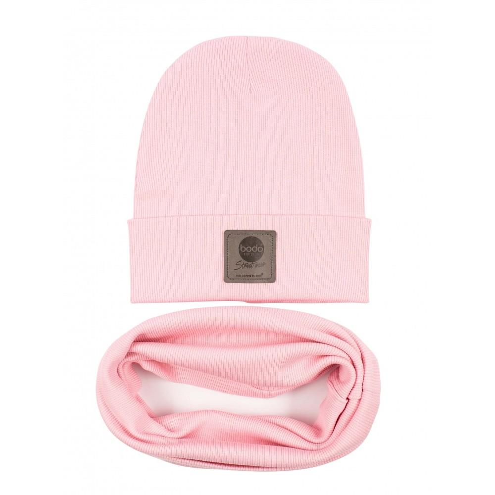 Set of cap and snud BODO 13-79U pink