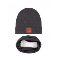 Set of cap and snud BODO 13-24U grey