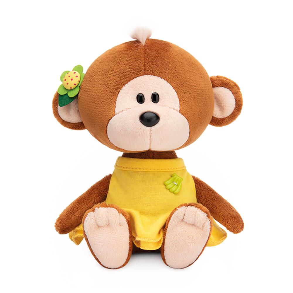 Мягкая игрушка BUDI BASA Обезьянка Отиша в желтом платье