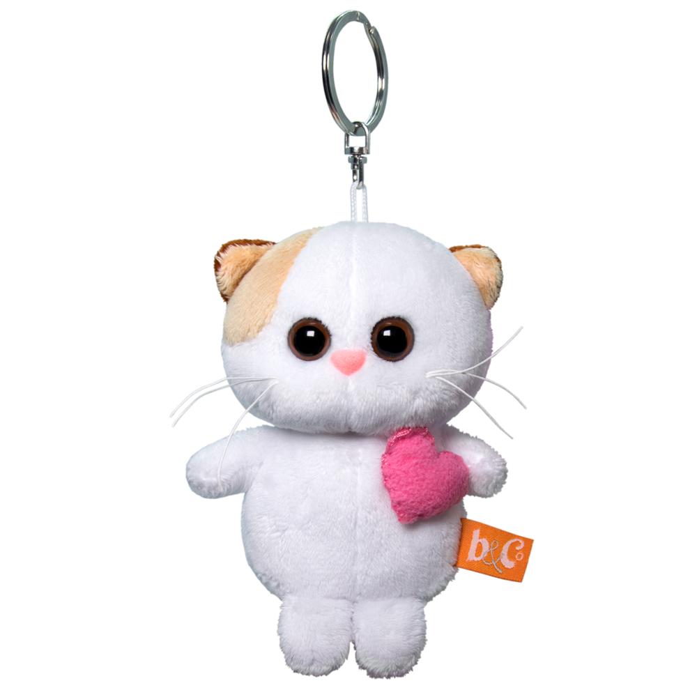 Брелок BUDI BASA Кошечка Ли Ли с розовым сердцем 12 см АВВ-014