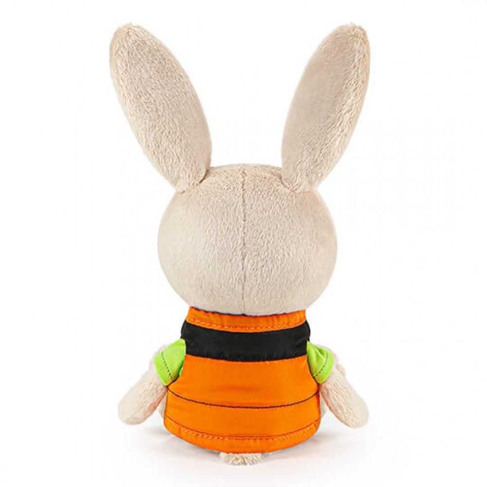 Мягкая игрушка BUDI BASA Заяц Антоша в зеленой футболке и безрукавке LE15-052