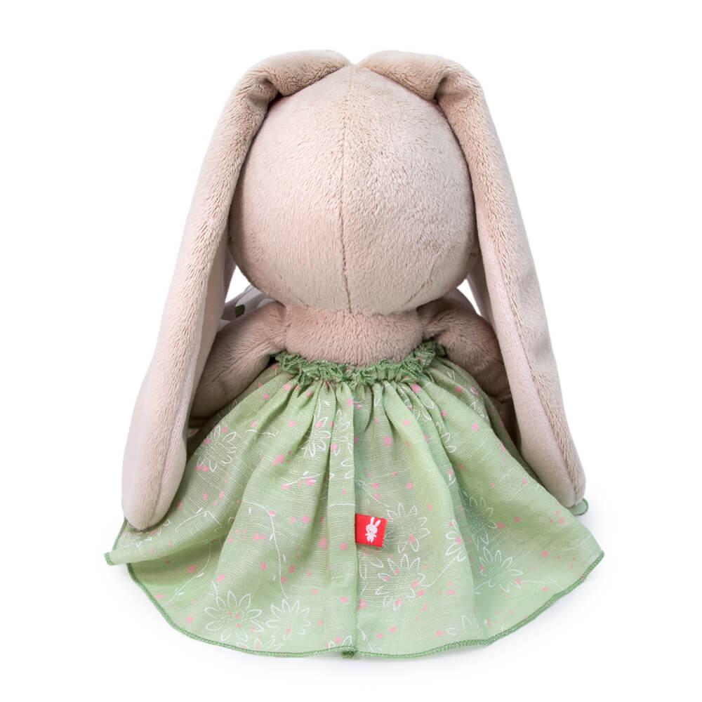 Мягкая игрушка BUDI BASA Зайка Ми в платье с бантом 18 см