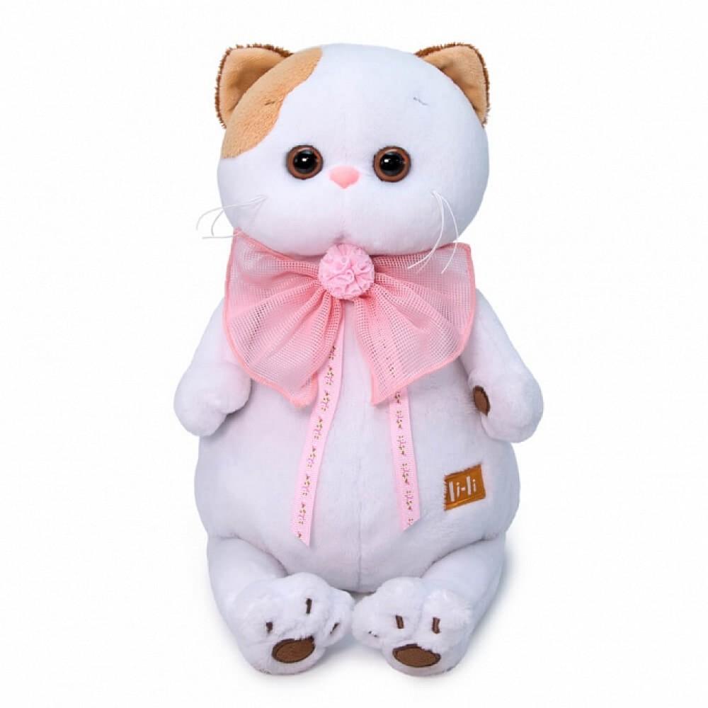 Мягкая игрушка BUDI BASA Ли-Ли с розовым бантом 24 см LK24-052