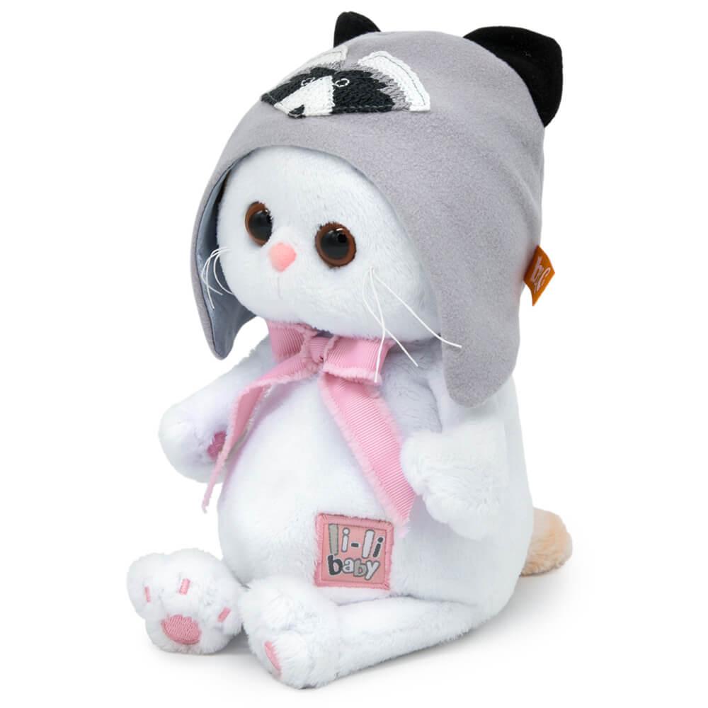 Мягкая игрушка BUDI BASA Ли-Ли BABY в шапочке - енот 20 см