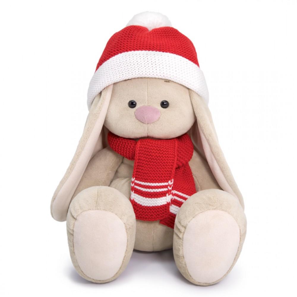 Мягкая игрушка BUDI BASA Зайка Ми Большой в шапке и шарфе 34см SidL-347