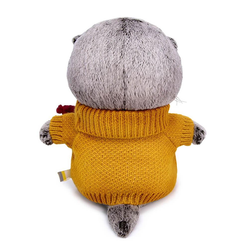 Басик BABY в оранжевом свитере 20 см