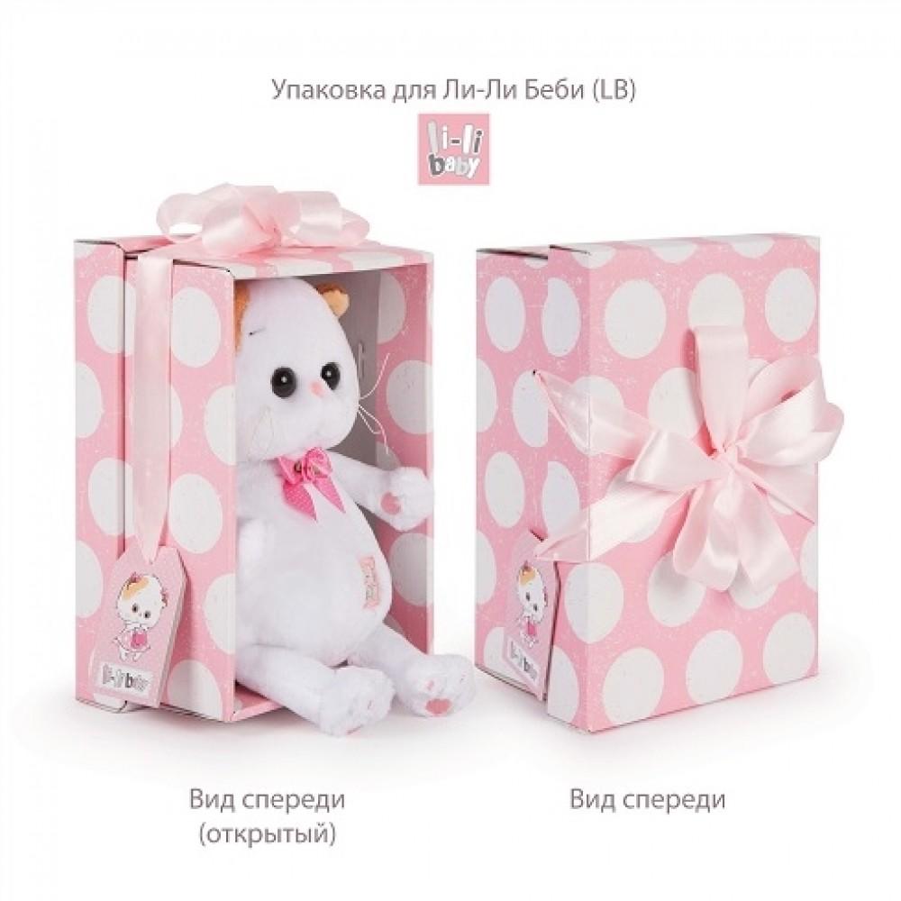 Мягкая игрушка BUDI BASA Ли-Ли BABY в платье с бантом 20 см LB-054