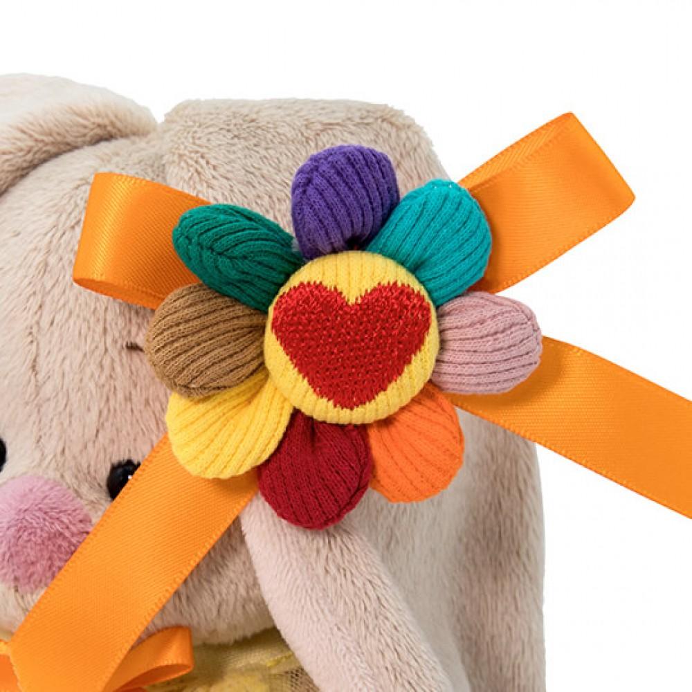 Мягкая игрушка BUDI BASA Зайка Ми в платье с семицветиком 15 см SidX-372