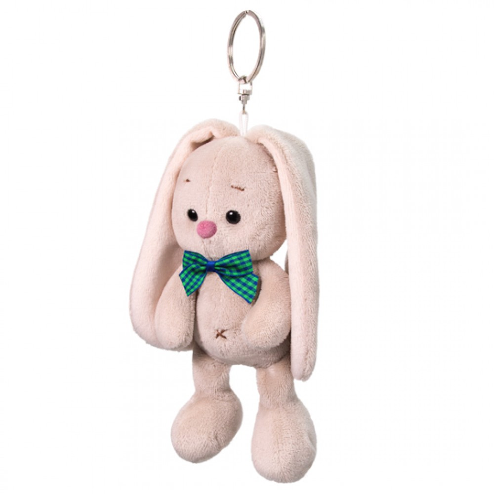 Keychain BUDI BASA Bunny Mi with a green bow