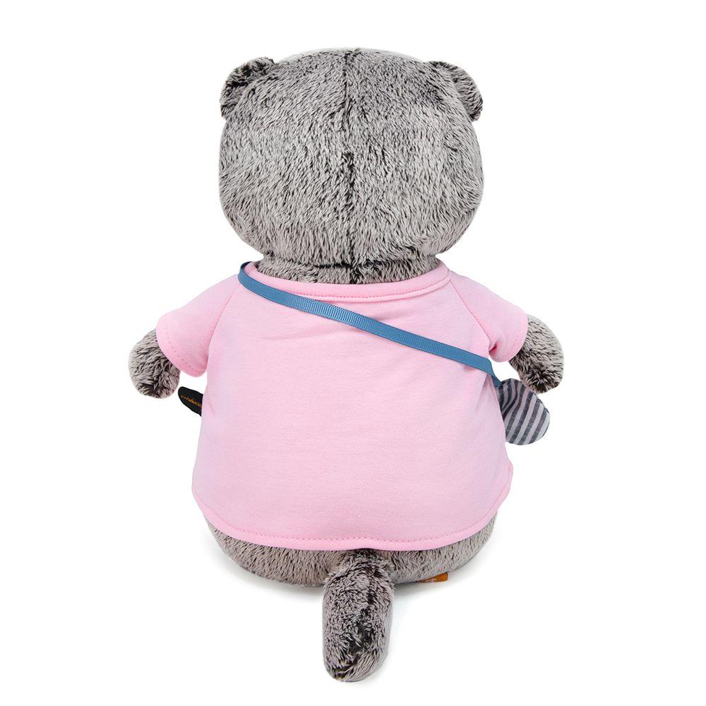 Басик в футболке и с сумочкой - слоник 22 см