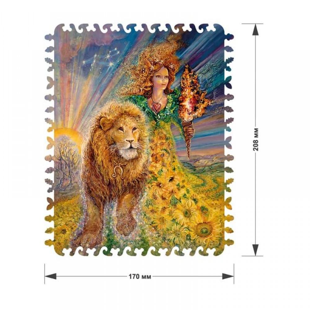 Деревянный пазл DAVICI Знак зодиака Лев