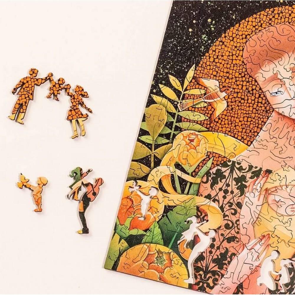 Деревянный пазл DAVICI Золотое солнце