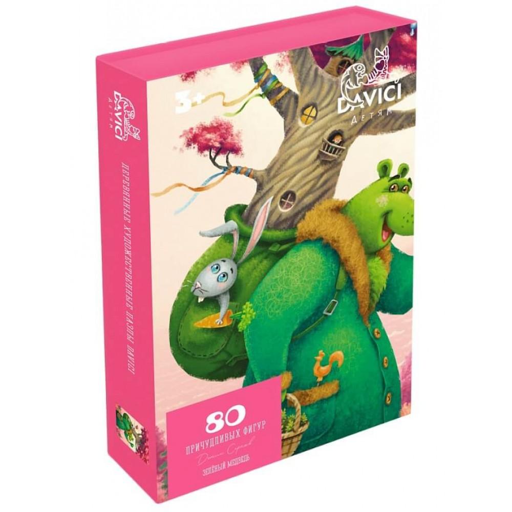 Деревянный пазл DAVICI Зеленый медведь