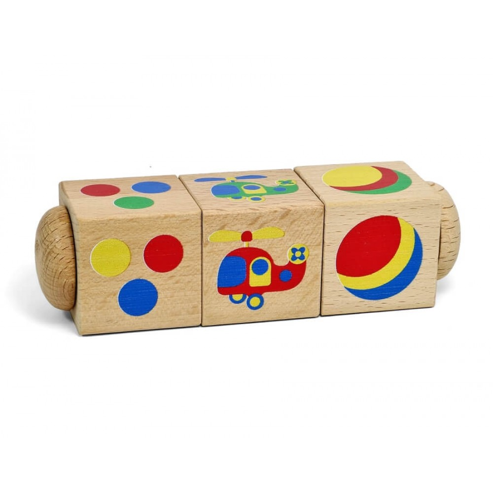 Кубики Цвет на оси