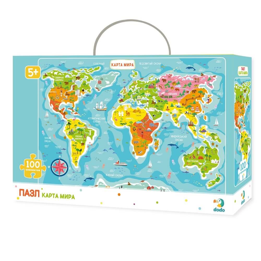 Puzzle World map Art. R100110