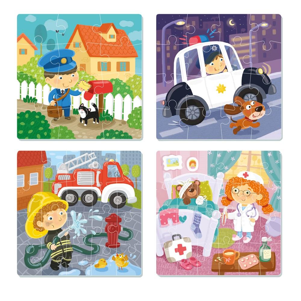 Puzzle 4 in 1 Professions Art. R300131