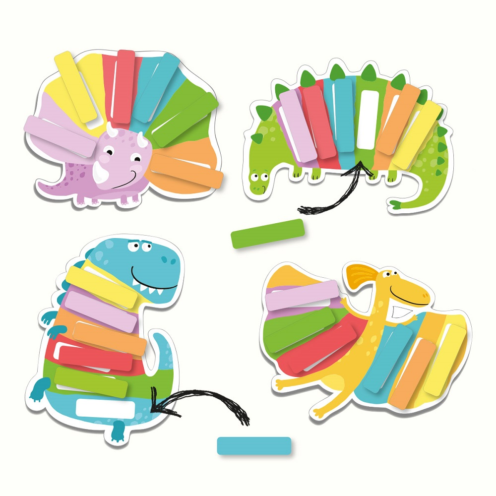 Memo-game We study colors Striped dinosaurs Art. R300138