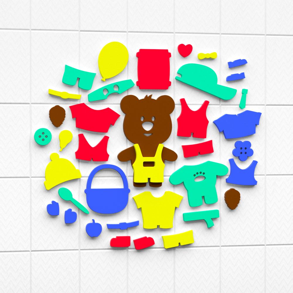 """Set for bathing """"Aqua Dress-Bear"""" Art. 08-002"""