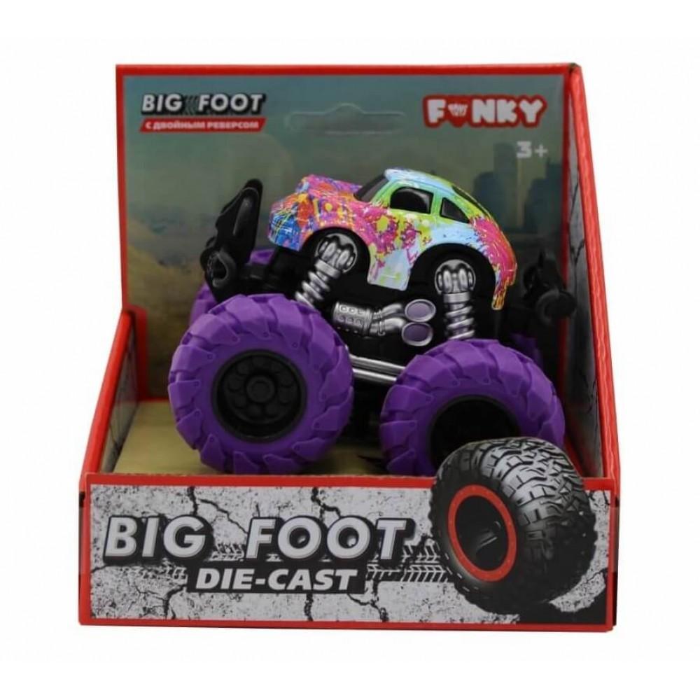 Машина пластиковая FUNKY TOYS гоночная die-cast, 4*4, фиолетовые колеса