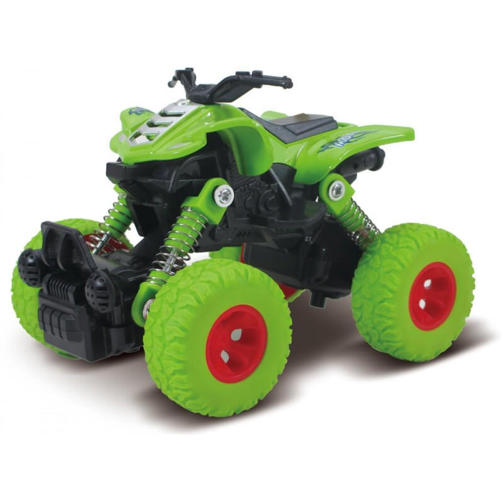 Машина пластиковая FUNKY TOYS Квадроцикл die-cast, инерционный, зеленый, 1:46