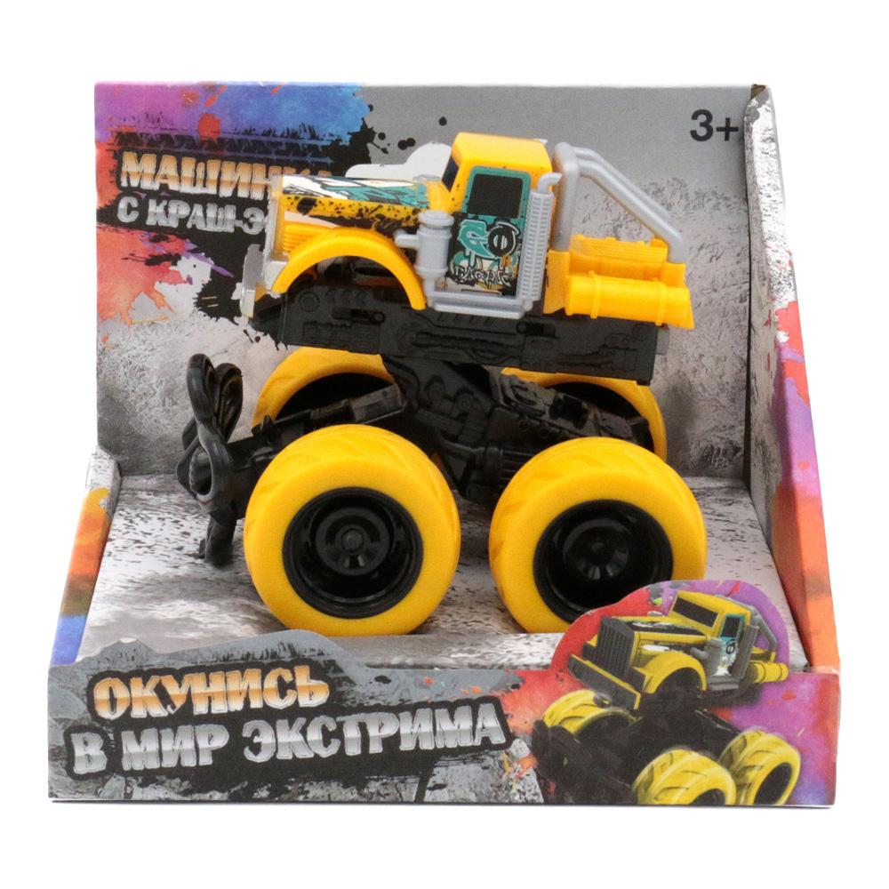Машина с краш-эффектом, пул-бэк, желтая