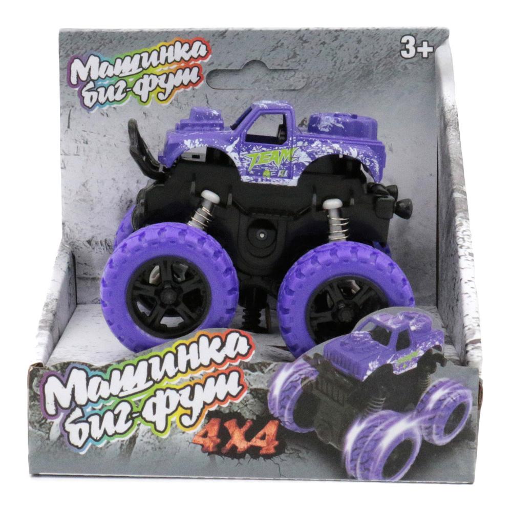 Машина пластиковая FUNKY TOYS инерционная фиолетовая 4*4 60002
