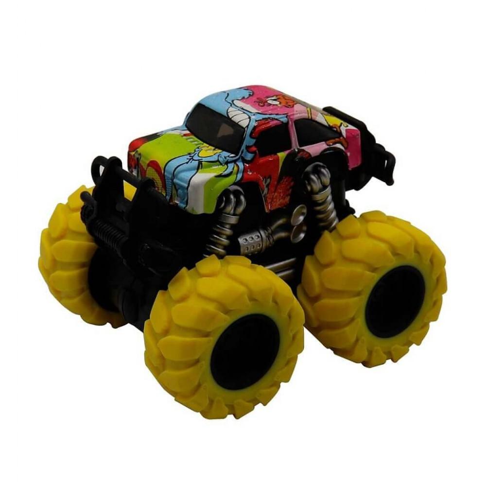 Машина пластиковая FUNKY TOYS гоночная die-cast, 4*4, желтые колеса