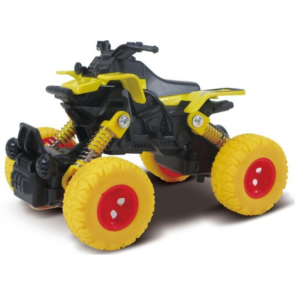 Машина Квадроцикл die-cast, инерционный, желтый, 1:46