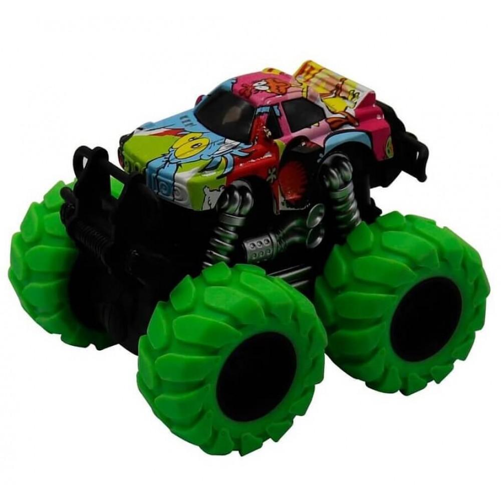 Машина пластиковая FUNKY TOYS гоночная die-cast, 4*4, зеленые колеса