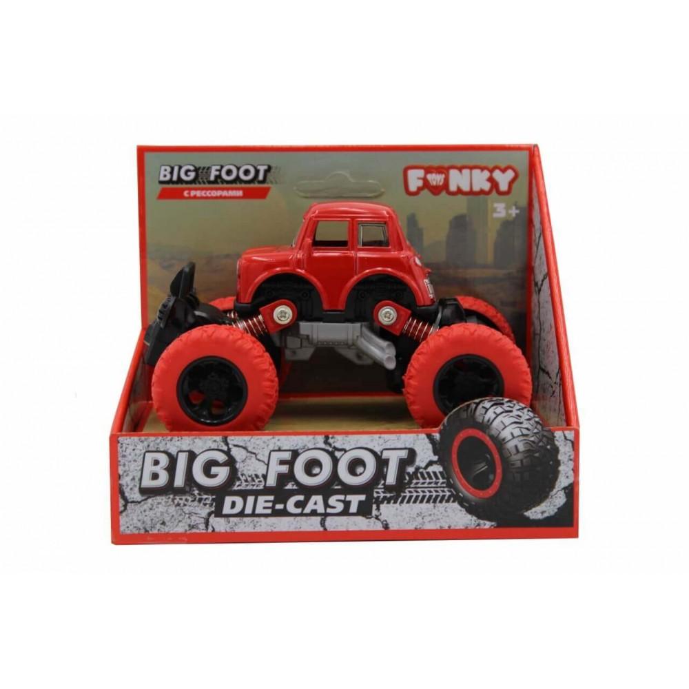 Машина пластиковая FUNKY TOYS die-cast, инерционная, красная, 1:46