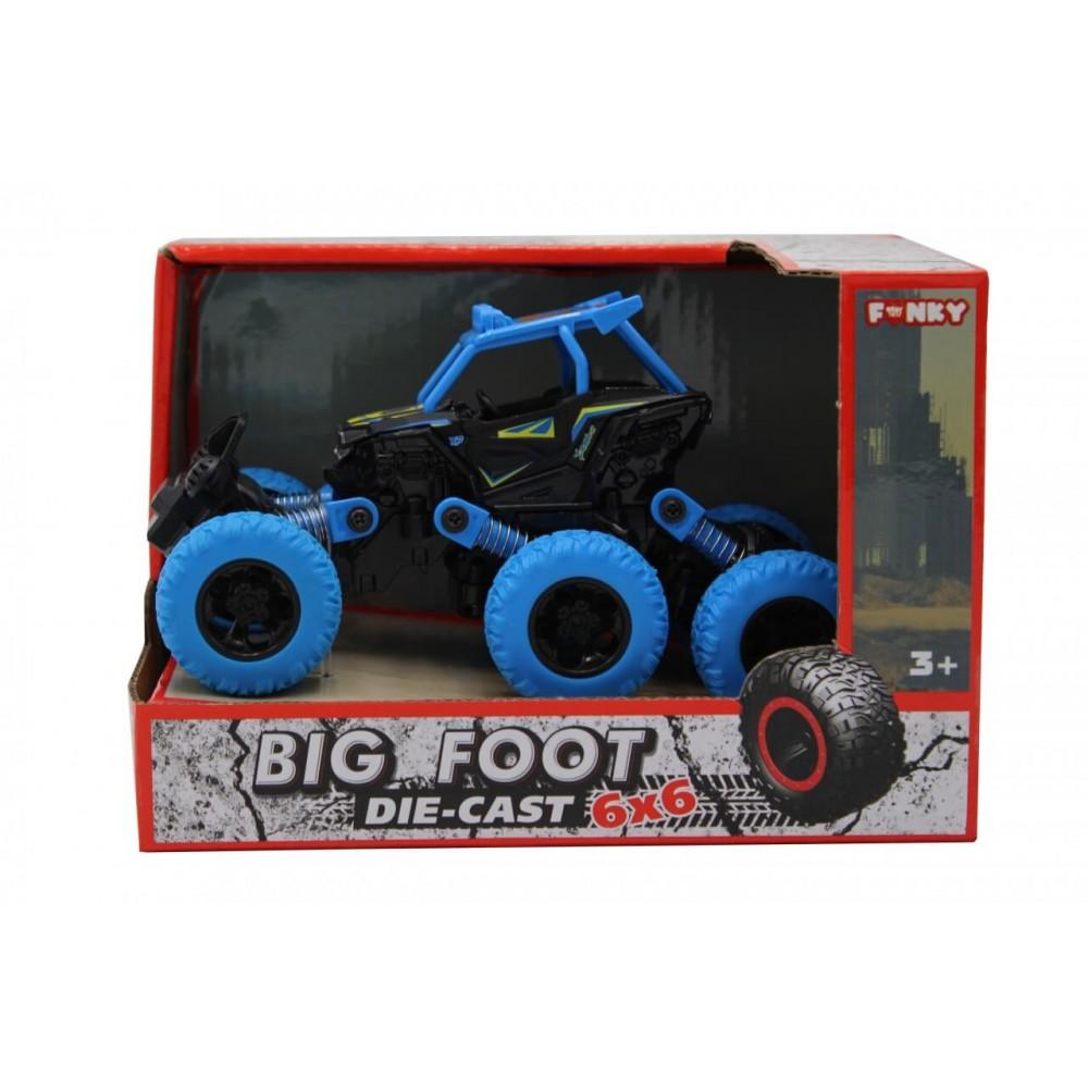 Машина пластиковая FUNKY TOYS Багги die-cast, инерционный, синий, 6*6
