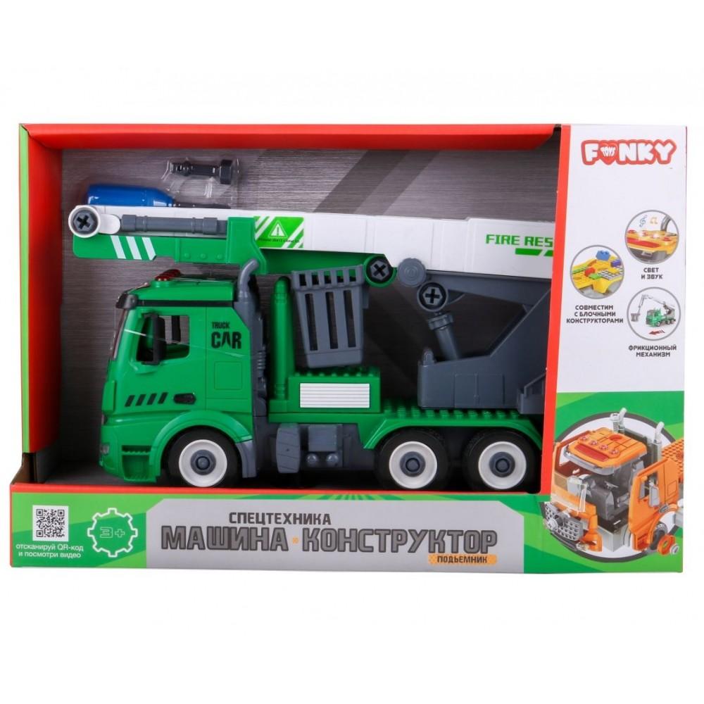 Машина пластиковая FUNKY TOYS Автобашня-конструктор