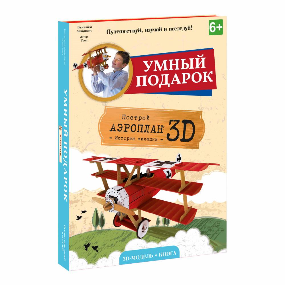 Конструктор ГЕОДОМ Аэроплан 3D + книга 4090