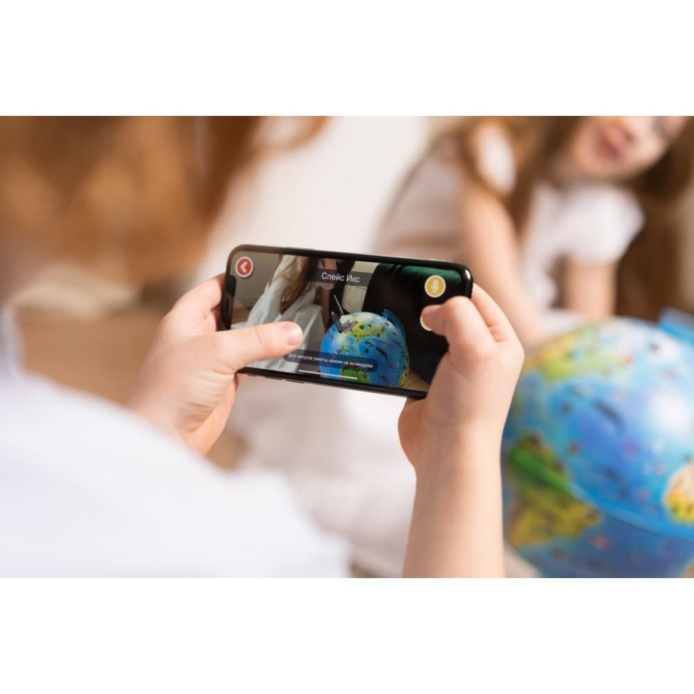 Глобус GLOBEN интерактивный зоогеографический детский с подсветкой 210мм с очками VR INT12100296