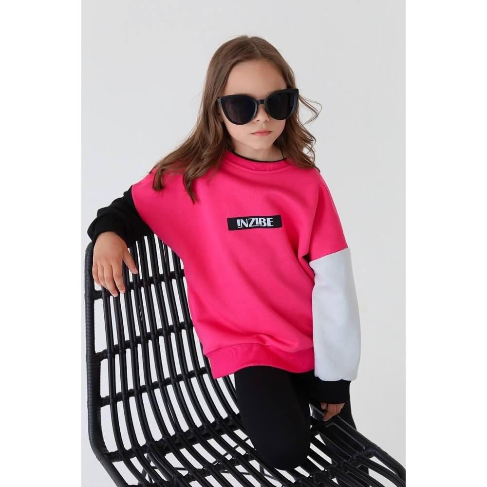 Свитшот COLOUR BLOCK, розовый