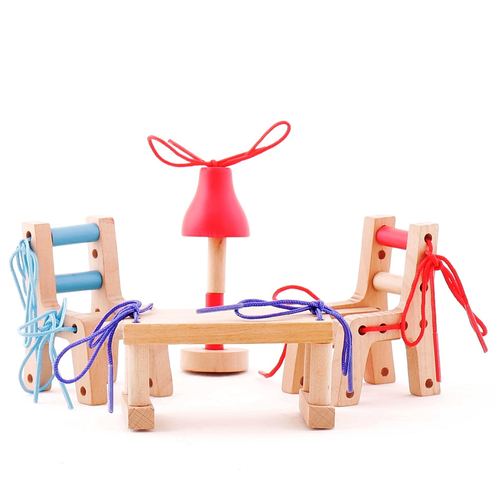 """Wooden set with lacing """"My Home"""" Art. 01KP0006"""
