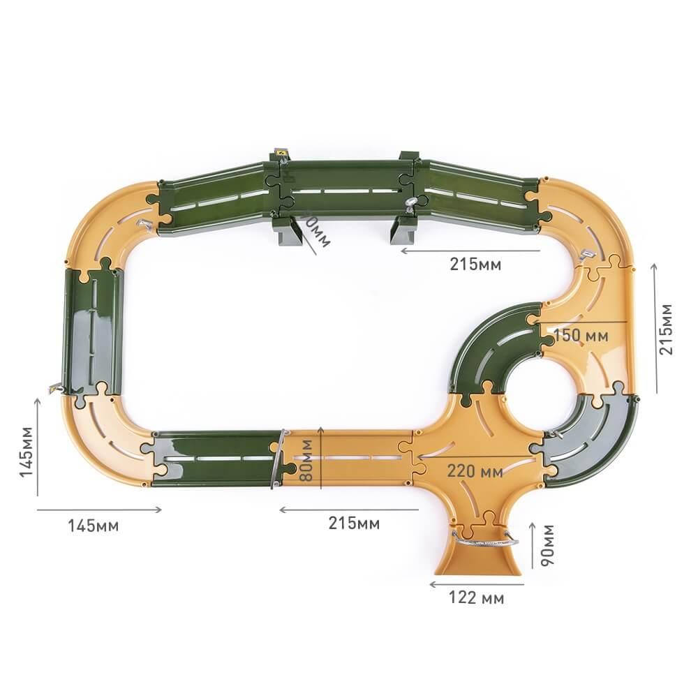 Игровой набор KNOPA Полигон 2,5 м с машинками