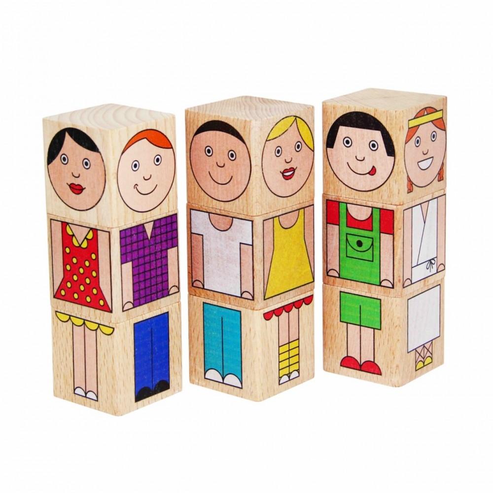 Кубики Смешные человечки