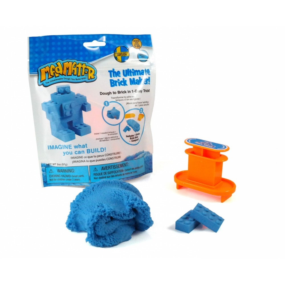 Масса для лепки MAD MATTR The Ultimate Brick Maker Blue(голубой) 220-203