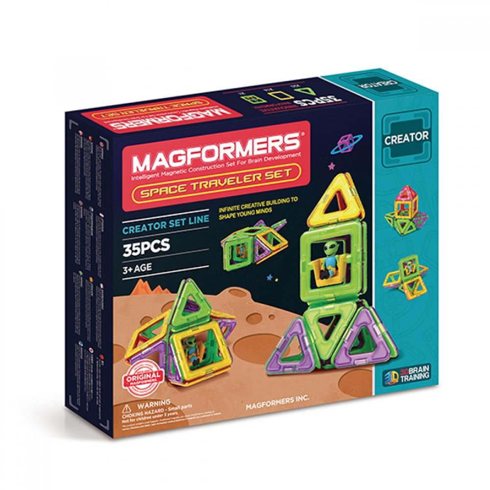 Магнитный конструктор MAGFORMERS Space Traveler set 703007