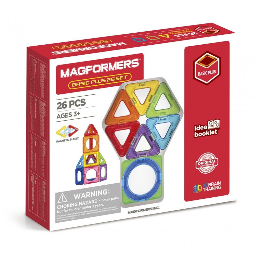 Магнитный конструктор MAGFORMERS Basic Plus 26 Set 715014