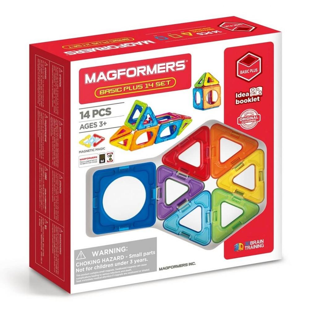 MAGFORMERS - 715013 Basic Plus 14 set