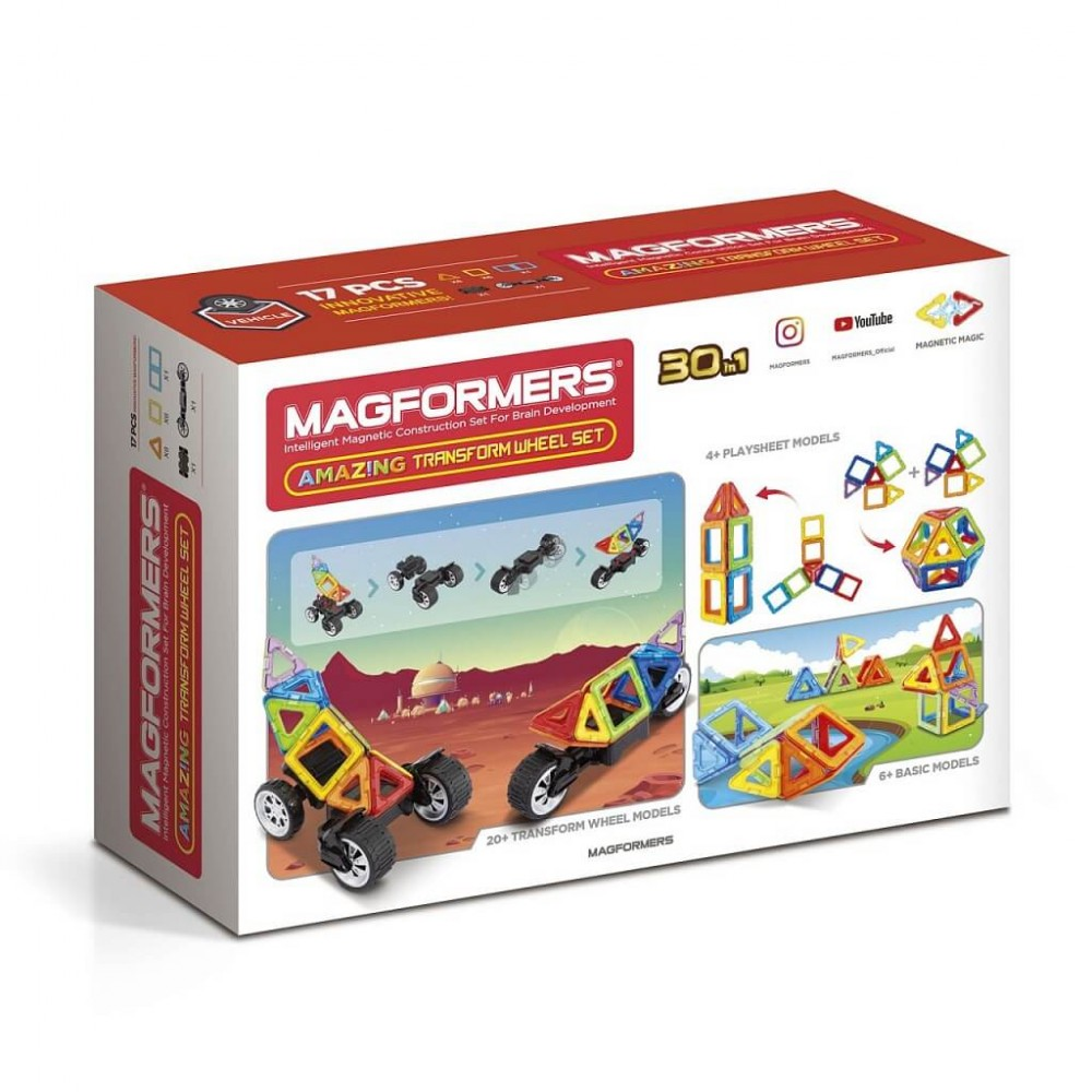 MAGFORMERS - Amazing Transform Wheel Set Art.707019