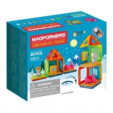Магнитный конструктор Cube House Penguin 20 дет
