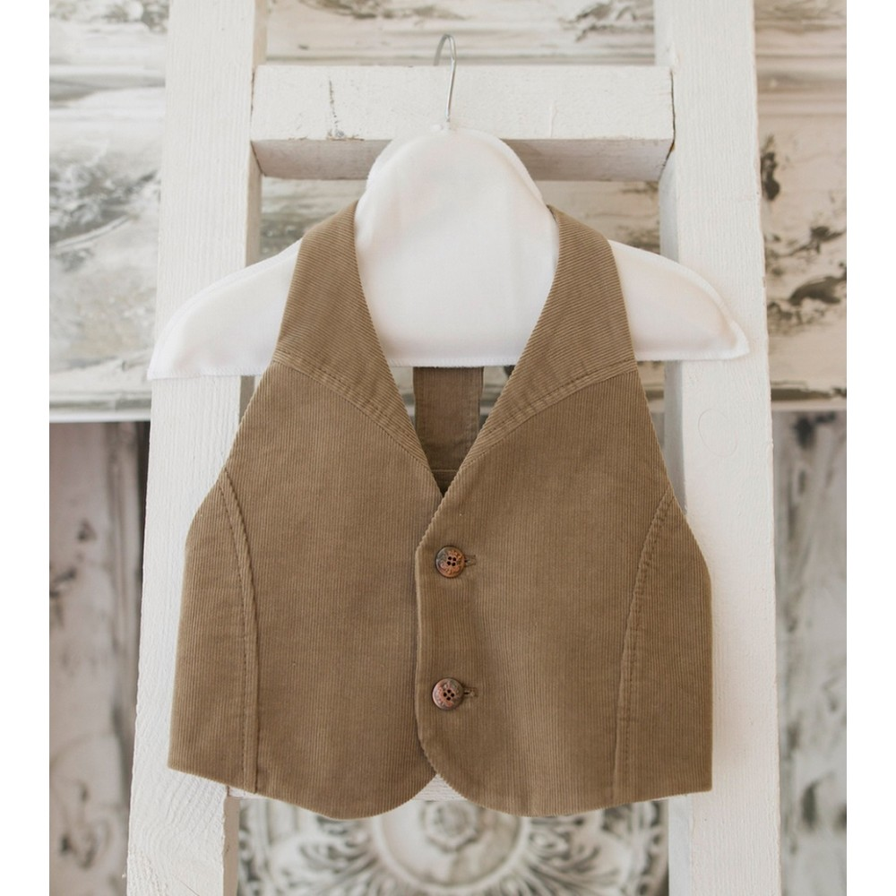 Vest with an open back 1721041 khaki